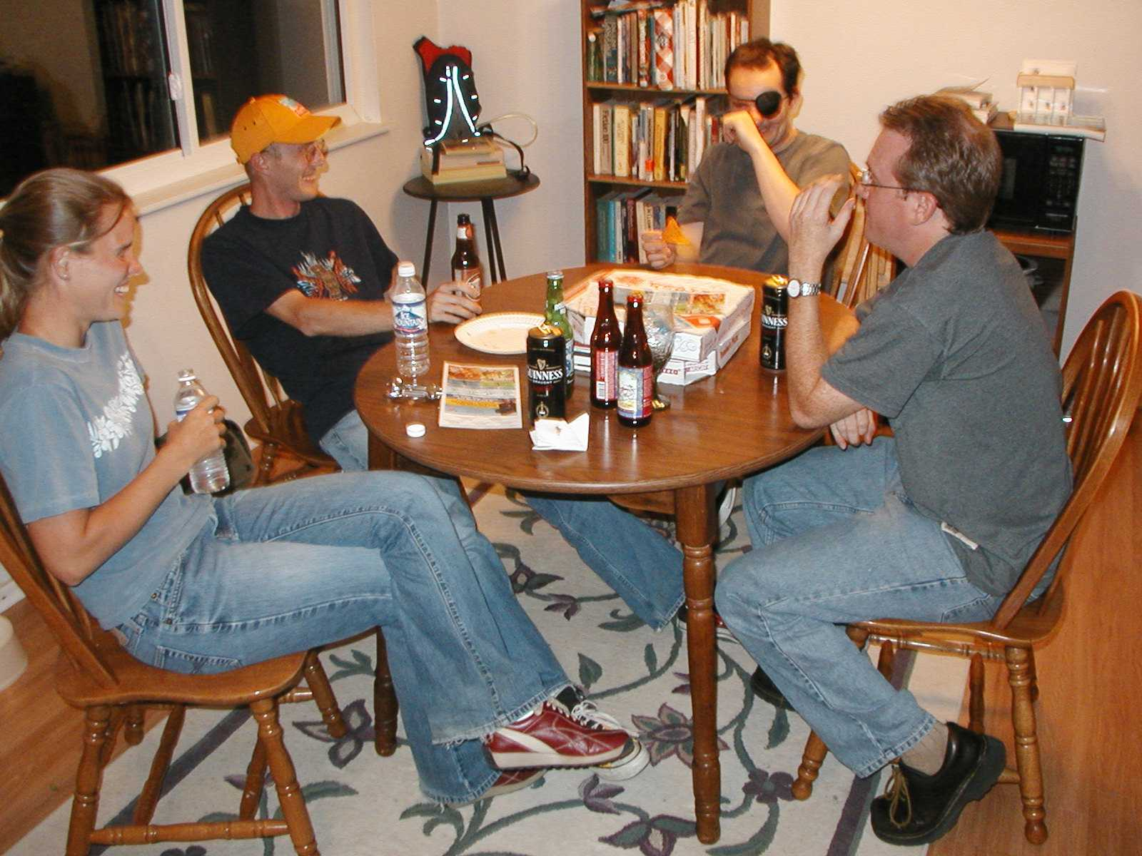 The hard drinkers.
