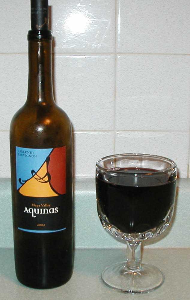 Aquinas wine