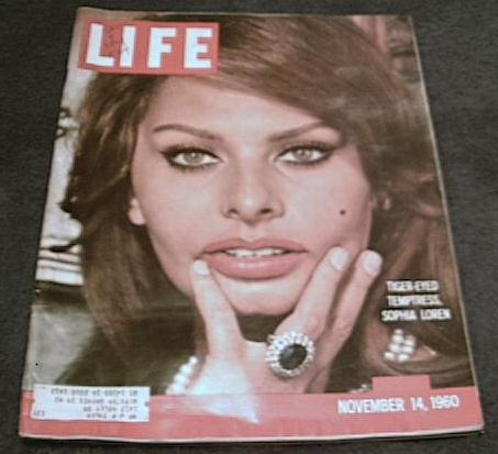 Sophia Loren on Life cover, November 14 1960